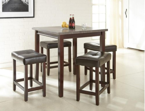 "Aberdeen 5Pc Cntr Set, Brown T: 36""x36""x36""; C: 21""x14""x24"""