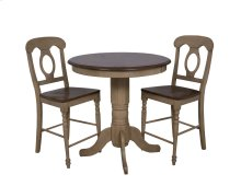 "Sunset Trading 3 Piece Brook 36"" Round Pub Table Set with Napoleon Stools - Sunset Trading"
