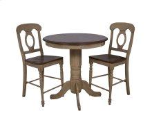 "Sunset Trading 3 Piece Brook 36"" Round Pub Table Set with Napoleon Stools - Sunset Trading"