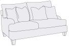 Brooke Loveseat in Brandy (703) Product Image