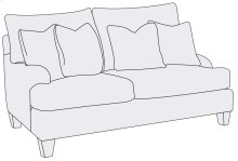 Brooke Loveseat in Brandy (703)
