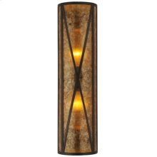 "8"" Wide Amber Mica Diamond Mission Wall Sconce"