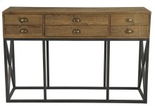 Metal Base Console W/6 Drawers
