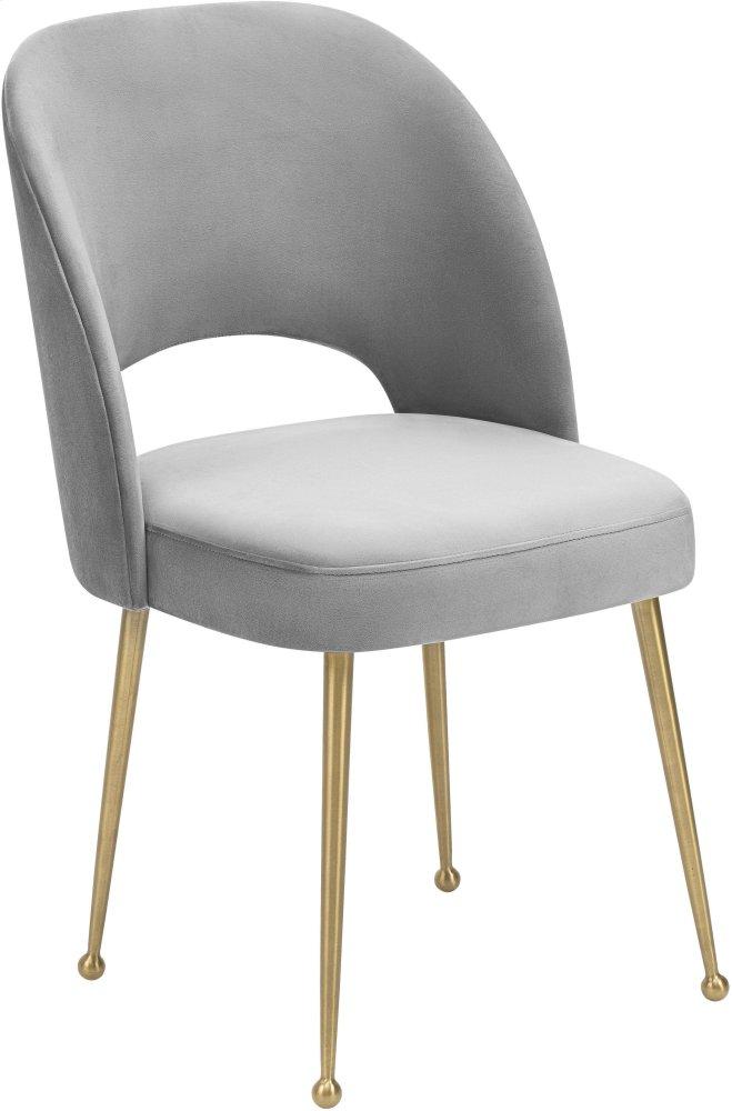Hidden · Additional Swell Light Grey Velvet Chair
