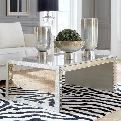 Antiqued Mirrored Coffee Table