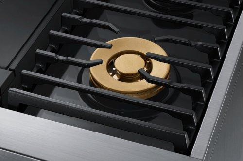 "36"" Pro Dual-Fuel Steam Range, Graphite Stainless Steel, Liquid Propane/High Altitude"