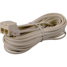 25 foot phone line extension cord with duplex connector in ivory color