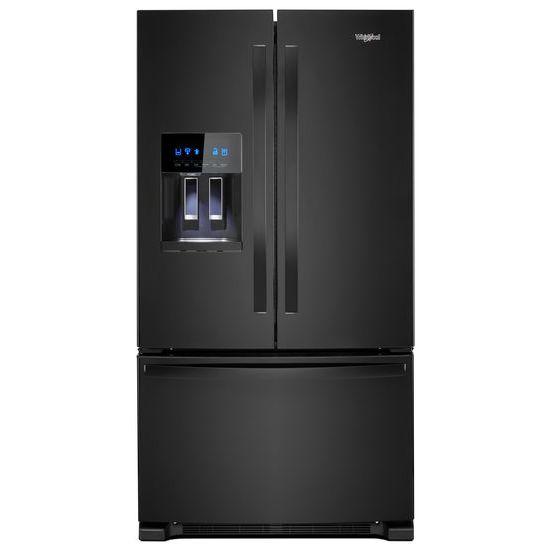 Whirlpool(R) 36-inch Wide French Door Refrigerator in Fingerprint-Resistant Stainless Steel - 25 cu. ft. - Black  BLACK