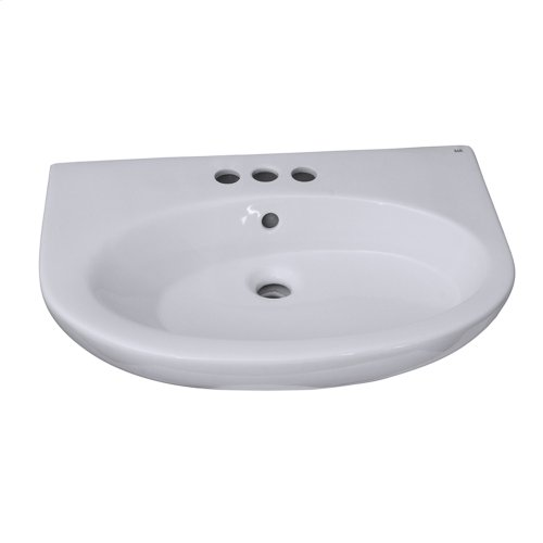 Infinity 600 Pedestal Lavatory - White