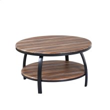 35'' Round Coffee Table Brown