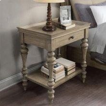 Corinne - Wood Top Leg Nightstand - Sun-drenched Acacia Finish