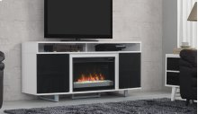 This stylish, contemporary media mantel features a high gloss black finish,...