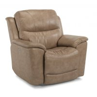 Cade Leather Recliner with Power Headrest Product Image