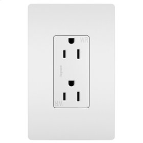 Weather-Resistant Receptacle, White