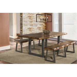 Hillsdale FurnitureEmerson 3-piece Rectangle Dining Set With Two (2) Benches - Natural Sheesham
