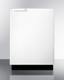 Built-in Undercounter Refrigerator-freezer With Large Capacity and Manual Defrost In White Exterior