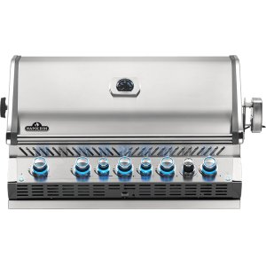 Napoleon BBQ Built-In Prestige Pro 665 Rb Infrared Rear Burner , Stainless Steel , Natural Gas