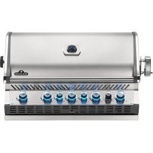 Built-in Prestige PRO 665 RB Infrared Rear Burner , Stainless Steel , Propane
