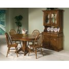 Dining - Classic Oak Burnished Rustic Pedestal Table Product Image