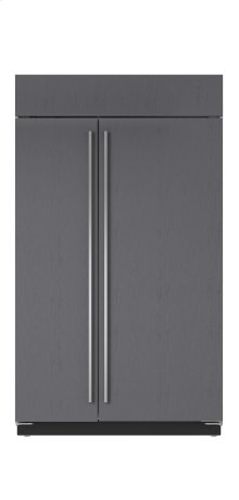 """48"""" Built-In Side-by-Side Refrigerator/Freezer with Internal Dispenser - Panel Ready"""