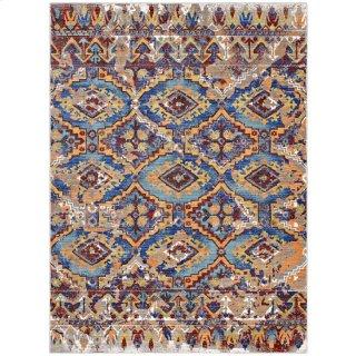 Centehua Distressed Southwestern Aztec 8x10 Area Rug in Multicolored