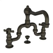 English Bronze Lavatory Bridge Faucet