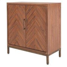 Gianni Chevron Cabinet 2 Doors, Walnut