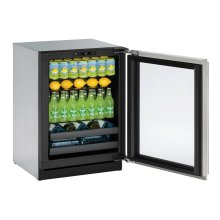 """Modular 3000 Series 24"""" Beverage Center With Stainless Frame Finish and Field Reversible Door Swing (115 Volts / 60 Hz)"""