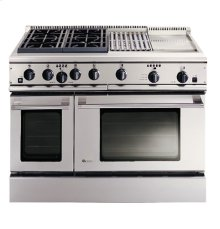 """GE Monogram® 48"""" Professional Range with 4 Burners, Grill, and Griddle (Liquid Propane)"""