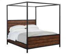 Milk Crate Framework Canopy Queen Bed