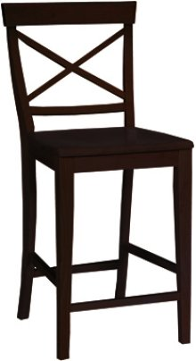 "24"" X Back Stool Black"