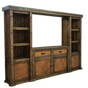 Laguna 4PC Wall Unit W/Copper Panels Product Image