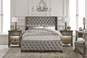Memphis Bed Set -king - Rails Inlcuded