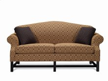 Camel Back Sofa with Black Chippendale Legs ( 2 seats)