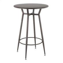 Clara Round Bar Table - Antique Metal