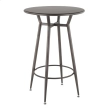 Clara Round Bar Table - Antique Metal