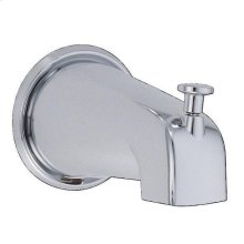 "Polished Brass PVD 5 1/2"" Wall Mount Tub Spout with Diverter"