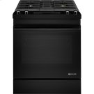 "30"" Dual-Fuel Downdraft Range, Black Floating Glass w/Handle Product Image"