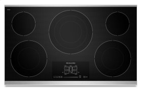 """36"""" Electric Cooktop with 5 Radiant Elements and Touch-Activated Controls - Stainless Steel"""
