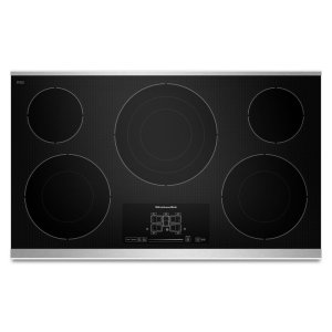 "Kitchenaid36"" Electric Cooktop with 5 Radiant Elements and Touch-Activated Controls - Stainless Steel"