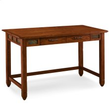 Rustic Oak & Slate Laptop Desk with Center Drawer #89400