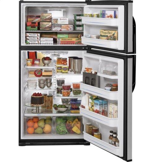 GE® ENERGY STAR® 21.0 Cu. Ft. Top-Freezer Refrigerator