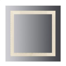 """LED lighted mirror Inset Style frosted glass. 36""""H x 36""""W. CRI: 80"""