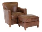 Card Room Club Chair & Ottoman Product Image
