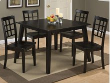 Simplicity Table With 4 Grid Back Chairs