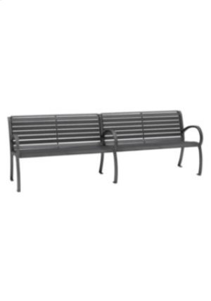 District 8' Bench with Back and Arms, Slat