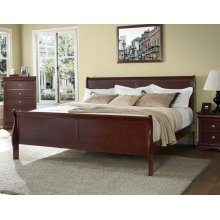 "Orleans King Bed Headboard & Footboard, Cherry, 41""x4""x47"""
