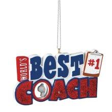 """Best Coach"" Ornament."