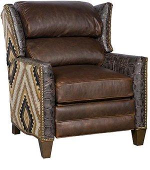 Santorini Leather Fabric Recliner