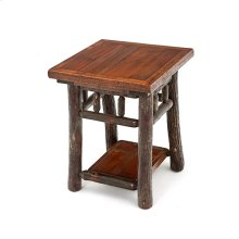 Old Yellowstone - Original 20 X 20 Spindle End Table With Shelf